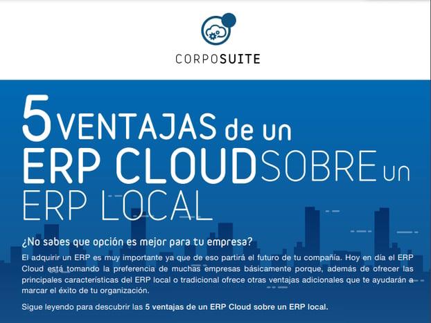 INFO 5 ventajas de un ERP Cloud sobre un ERP local